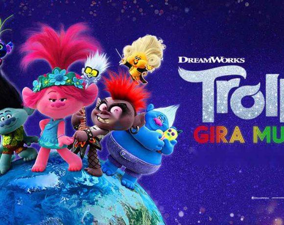 Cartel de la película Trolls 2 con los protagonstas
