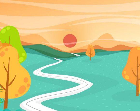 Ilustración de un camino