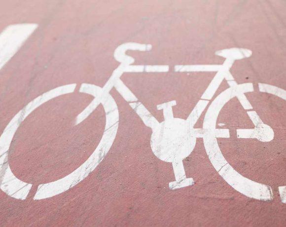 Detalle de un carril bici