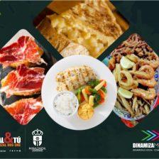 Cartel con imágenes de tapas de comida