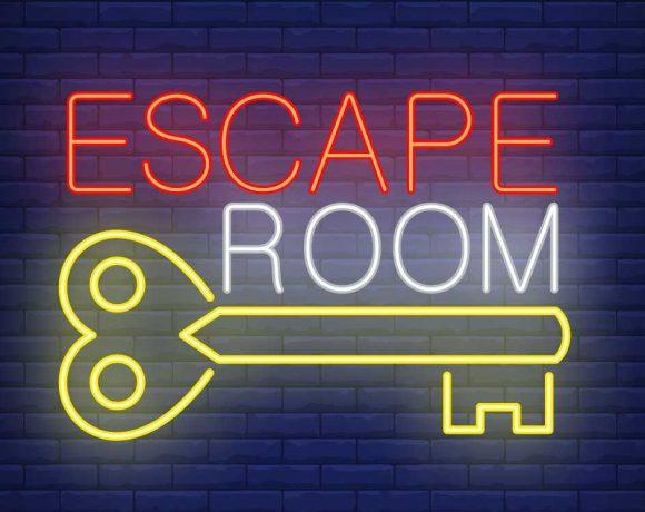 Rótulo de Escape Room con una llave
